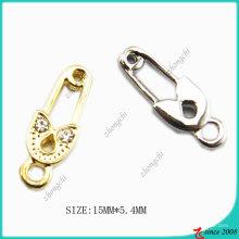 Accessoires de bijoux Gold Tone Pin Charm