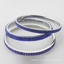 Brazaletes cristalinos de la nueva llegada, brazaletes cristalinos azules de la alta calidad para las mujeres