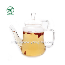 Clear Single Wall Glass Teapot by SGS (420ML)