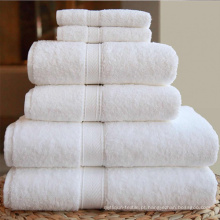 Xangai DPF Têxtil 100% Algodão Branco Toalha de Cabelo Seco