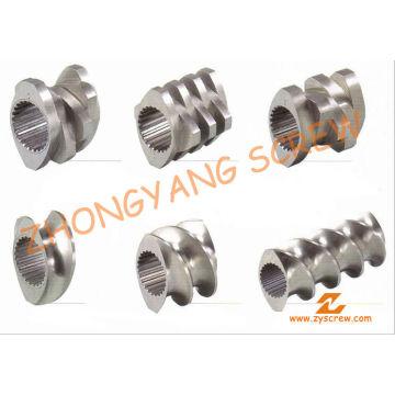 Baril à vis segmentée pour la granulation de PVC à double vis
