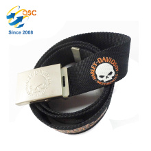 Elastic Belt with Client Embossed Logo and Printing Pattern for Jeans