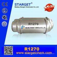 118 L de pureza elevada 99,9% de gás refrigerante R1270