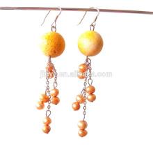 Moda Bohemian Estilo Fresh Pearl Dangle Earrings