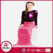 2018 new design fashion cute flannel fleece mermaid tail blanket