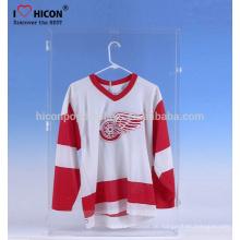 Merchandising-Displays, um Ihre speziellen Produkte zu passen Großhandel kundenspezifische Acryl Sport-Hemden Jersey-Vitrine