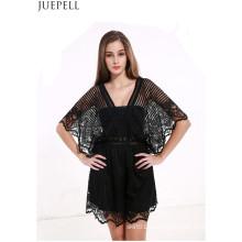 Sommer neue Frauen Explosion Modelle Sexy Lace Stitching Hohl Halter Jumpsuit Kleid