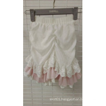 Pretty Ruffles and Lace Children′s Shorts