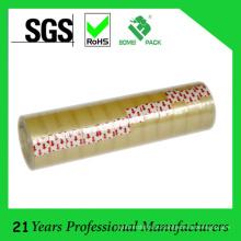 fita amarelada dos artigos de papelaria do núcleo plástico