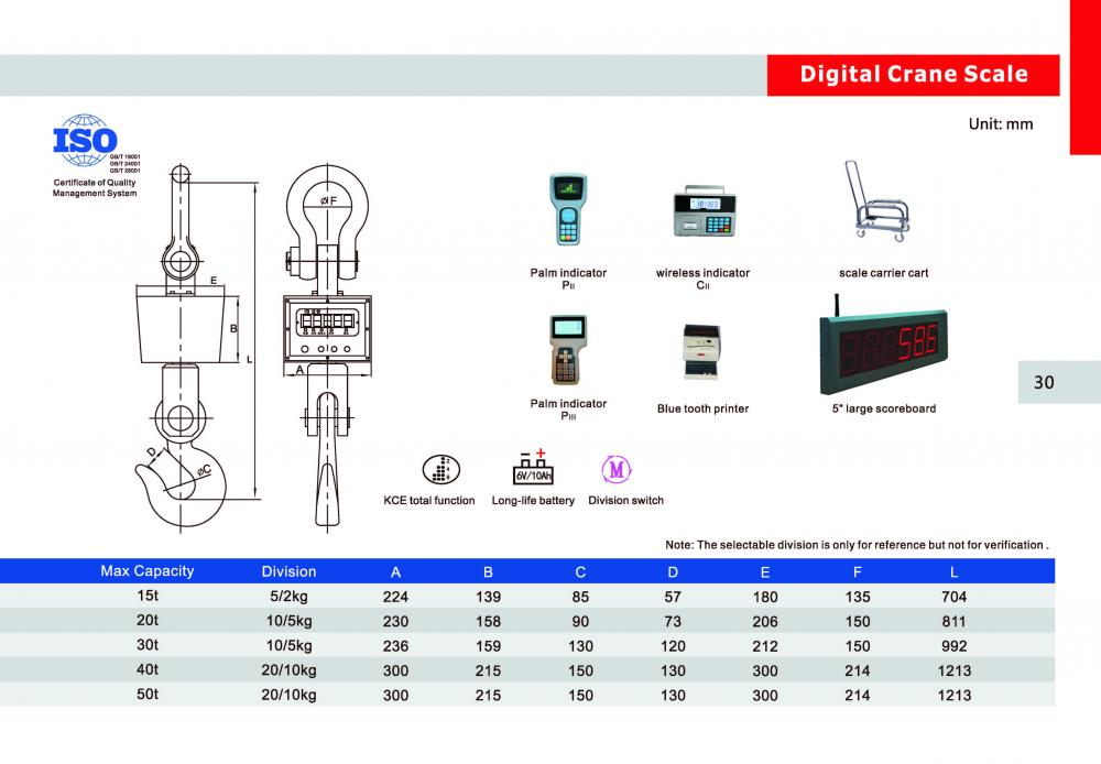 wireless crane weighing scale