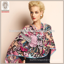 Wholesale Graffiti design wide print wool shawl
