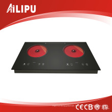 Built-in Metal Body Double Heater Infrared Cooker, Radiant Cooker