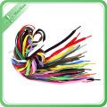 Bunte gute Qualität Polyester Logo Druck Schnürsenkel mit Clip