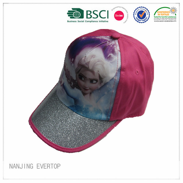 High Qualty Frozen Print Kids Cap