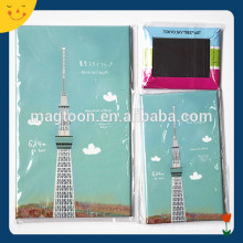 Japan tourist souvenir tinplate fridge magnet with Tokyo Tower printed