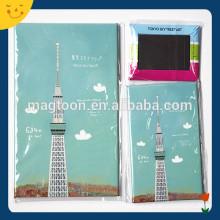 Japan tourist souvenir tinplate fridge magnet with Tokyo Tower printed