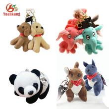 Kundenspezifischer preiswerter Plüsch-Elefant-Känguru-Hund Panda Keychain