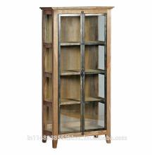 Bibliothèque rustique en métal et en bois moderne