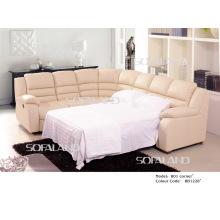 Sofá-cama de canto moderno de couro 801 #