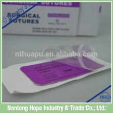 agulha de sutura curva estéril com rosca