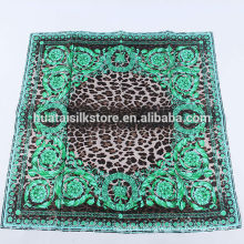 2014 new products green paisley leopard brand fashion luxury scarves women
