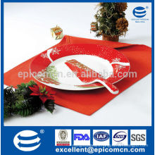 ceramic cake plate with server snowflake/Christmas tree elements popular painting