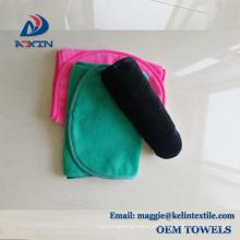 Paño reutilizable del removedor de maquillaje reutilizable rojo y negro de China (2 pañuelos por paquete)