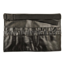 Bolsa de cintura de couro falso para pincel de maquiagem