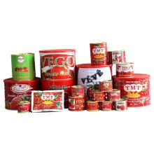 Pasta de tomate enlatada marca OEM de todos los tamaños, 70 G a 4,5 kg
