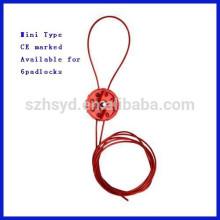 Nylon Material Tench Mini tipo de bloqueo de cable del sistema