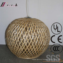 Chinese Style Hotel Decoeative Natural Oak Round Wood Pendant Lamp