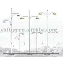 6-12meters dingle o brazo doble solar led street pole
