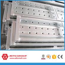 Tablero de pared de metal / tablón de acero inoxidable / tablones de andamio laminado