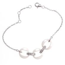 Bijoux en argent sterling et bracelet en céramique (T20054)