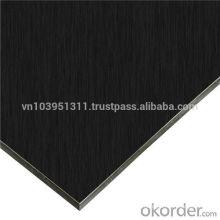Alucobond Aluminum composite panel black color design for wall