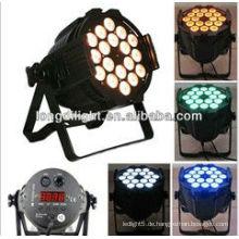 18 x 3W RGB führte par Licht geführt par64 Bühnenbeleuchtung edison professionelle dj Ausrüstung dj Ausrüstung Fabrik