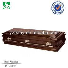 cercueil professionnel poignées couleur bronze avec intérieur satiné