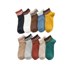 Calcetines tobilleros de corte bajo de algodón lindo para mujer