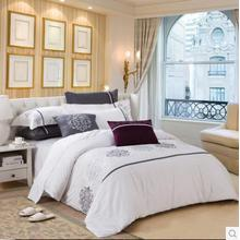 Canasin 5 Star Hotel Satin Bed Linen 100% Cotton White