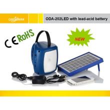 Lámpara solar con batería de litio