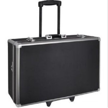 Customized Shockproof Aluminum Alloy Rolling Trolley Camera Box (with wheels)