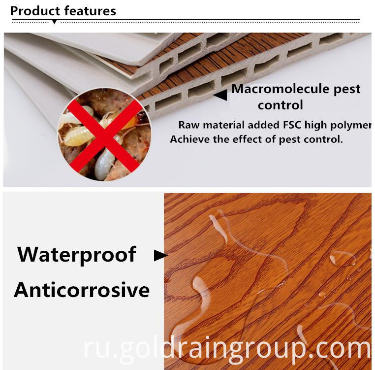 Environmental Protection Bamboo Fiber Livingroom Wall Board Panel