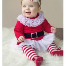 Adorável XMAS crianças bebê meninas roupas de Natal