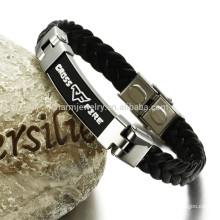 Bracelet en cuir en acier inoxydable pour bracelet large homme, délai de livraison avec qualité PH820