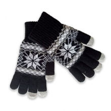 Casual Style Plain Knitted Gloves Lady Daily Life Use Winter Warm Hand Gloves for Women