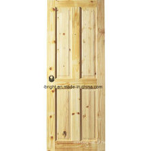 Projeto de porta de madeira de pinho Knotty
