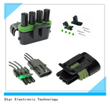 Factory Price Delphi Waterproof 4 Pin Male Female Connector Plug and Terminal