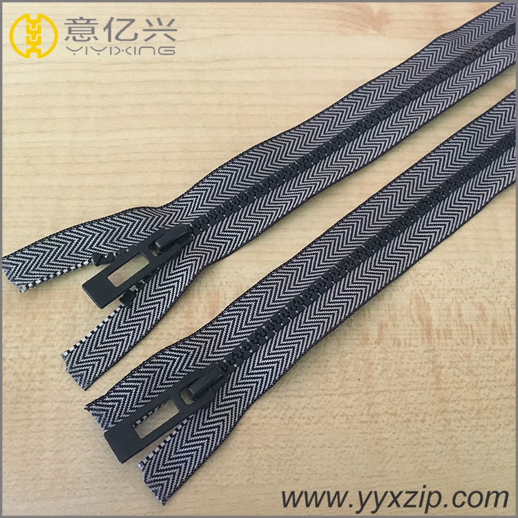double head metal zippers