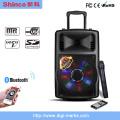 2016 neue Großhandel Professionelle Bühne Lautsprecher mit Bluetooth Disco Licht