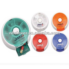 round pill box with logo printing